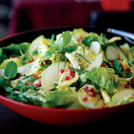 Food & Wine: Escarole and Fresh Herb Salad with Apples and Pomegranates