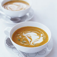 Food & Wine: Gingered Carrot Soup with Crème Fraîche