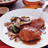 Food & Wine: Soy-Marinated Chicken Thighs with Shiitake Mushrooms