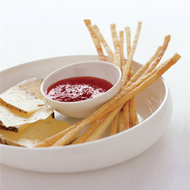 Food & Wine: Red-Pepper Jelly with Grissini and Montasio Cheese