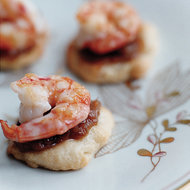 Food & Wine: Flat Breads with Shrimp and Romesco Sauce