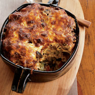 Food & Wine: Two-Cheese Moussaka with Sautéed Mushrooms and Zucchini