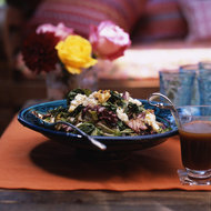 Food & Wine: Bitter Greens with Quince Vinaigrette and Blue Cheese