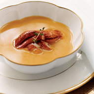 Food & Wine: Pumpkin Soup with Creole Lobster