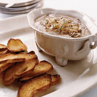 Food & Wine: Turkey Liver Mousse Toasts with Pickled Shallots