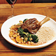 Food & Wine: Braised Lamb Shanks with Roasted Broccoli and Squash