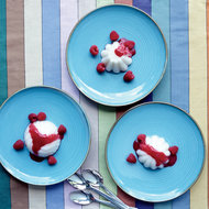 Food & Wine: Coconut Pudding with Raspberry Sauce