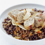 Food & Wine: Lentils with Chicken Sausage