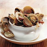Food & Wine: Manila Clams with Hot Soppressata and Sweet Vermouth