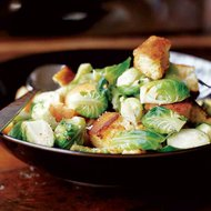 Food & Wine: Toasted Corn Bread Hash with Brussels Sprouts