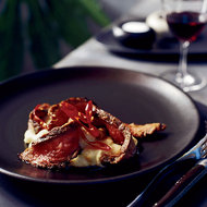 Food & Wine: Chile-Rubbed Flank Steak with White Polenta