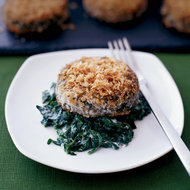 Food & Wine: Crispy Swiss Chard Cakes with Mascarpone-Creamed Spinach