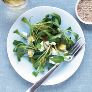 Food & Wine: Mâche Salad with Goat Cheese and Fennel-Mustard Vinaigrette