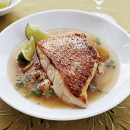 Food & Wine: Snapper and Spiced Crab with Lime-Coriander Broth