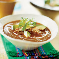 Food & Wine: Garlic and Pasilla Chile Soup