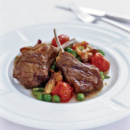 Food & Wine: Grilled Spiced Lamb Chops with Vegetable Ragout