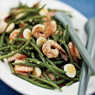 Food & Wine: Haricot Vert Salad with Quail Eggs and Shrimp