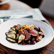 Food & Wine: Olive-Crusted Lamb with Adzuki Bean Stew