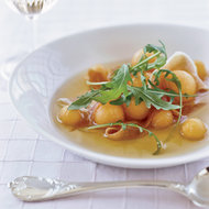 Food & Wine: Prosciutto Consommé with Arugula and Melon