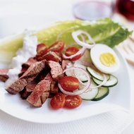 Food & Wine: Spicy Steak Salad with Blue Cheese Dressing