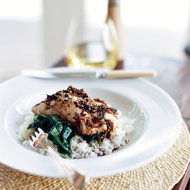 Food & Wine: Halibut with Soy-Ginger Dressing