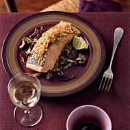 Food & Wine: Gingery Panko-Crusted Salmon with Asian Vegetables