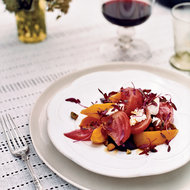 Food & Wine: Roasted Beet Salad with Goat Cheese and Pistachios
