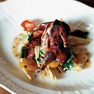 Food & Wine: Crispy Quails with Chile Jam and Three-Bean Salad
