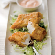 Food & Wine: Battered Cod with Marie Rose Sauce