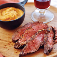 Food & Wine: Malabar Spice-Crusted Hanger Steaks with Gingered Carrot Puree