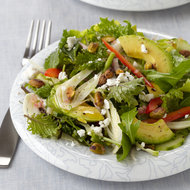 Food & Wine: Green Salad with Goat Cheese and Pistachios