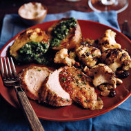 Food & Wine: Grilled Capon with Salsa Verde