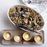 Food & Wine: Whole Wheat Linguine with Manila Clams and Baby Fennel