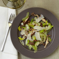 Food & Wine: Celery and Mushroom Salad with Shaved Parmigiano