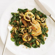 Food & Wine: Sautéed Chicken with Olives, Capers and Roasted Lemons