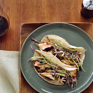 Food & Wine: Dry-Rubbed Salmon Tacos with Tomatillo-Avocado Slaw