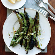Food & Wine: Grilled Fava Bean Pods with Chile and Lemon