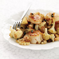 Food & Wine: Seared Scallops with Cauliflower, Capers and Raisins
