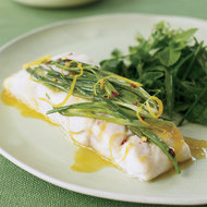 Food & Wine: Wild Striped Bass with Scallions and Herb Salad