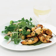 Food & Wine: Grilled Squid with Miner's Lettuce Salad and Green Sauce