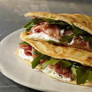 Food & Wine: Piadina with Ricotta, Prosciutto and Arugula
