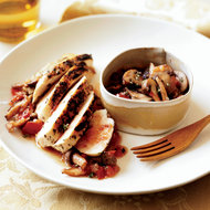 Food & Wine: Rosemary-Grilled Chicken with Mushroom Sauce