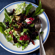 Food & Wine: Salad of Bitter Greens with Balsamic-Glazed Prosciutto