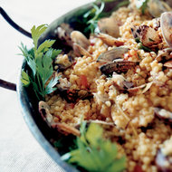 Food & Wine: Shellfish Paella with Fregola
