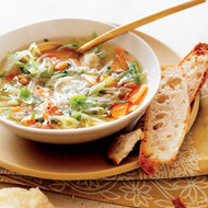 Food & Wine: Vegetable Soup with Fennel,  Herbs and Parmesan Broth