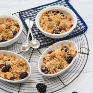 Food & Wine: Blackberry and Apple Crisp with Nut Topping