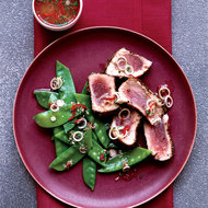Food & Wine: Spice-Crusted Tuna with Thai Snow Pea Salad