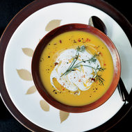 Food & Wine: Gingered Butternut Squash Soup with Spicy Pecan Cream