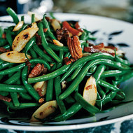 Food & Wine: Green Beans and Salsify with Country Ham and Pecans