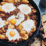 Food & Wine: Baked Eggs with Chorizo and Potatoes